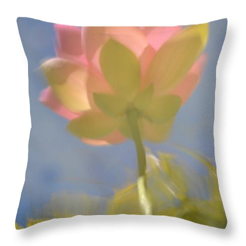 Lotus Throw Pillow featuring the photograph Lotus Reflection by Catherine Lau