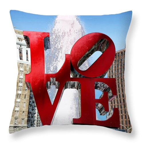 Love Sculpture Throw Pillow featuring the photograph Love by Andrew Fare