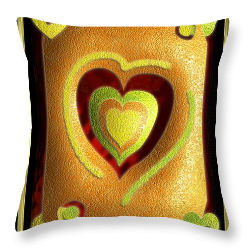 Love Throw Pillow featuring the digital art Love Of Fruit And Jello by Michael Hurwitz