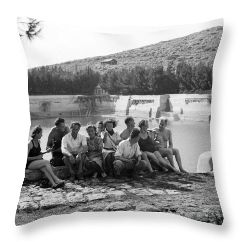 Solomon's Pools Throw Pillow featuring the photograph Lower Pool by Munir Alawi