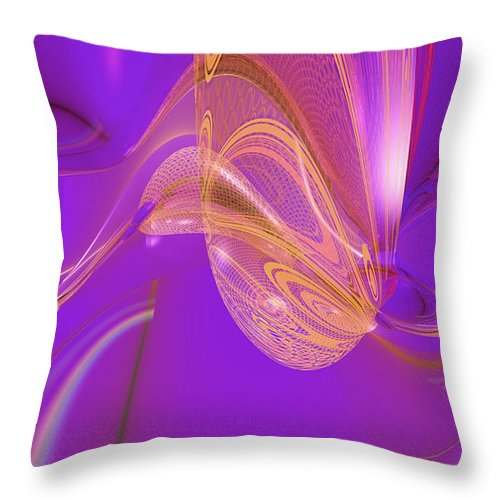 Abstract Throw Pillow featuring the digital art LSD by Marisa Gabetta