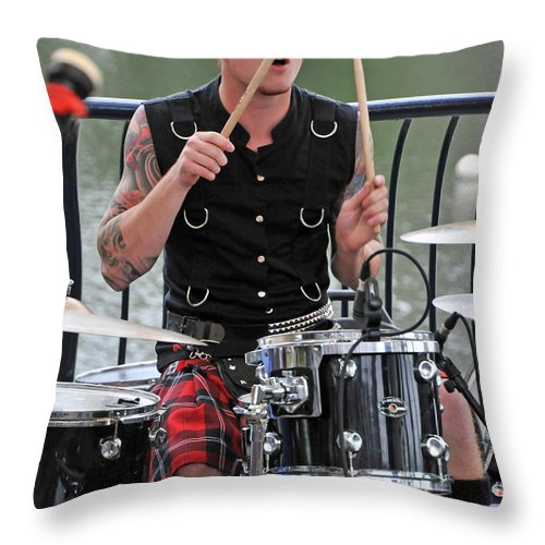 Live Throw Pillow featuring the photograph Lucas by Mike Martin