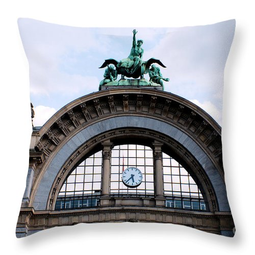 Building Throw Pillow featuring the photograph Lucerne Sation by Pravine Chester