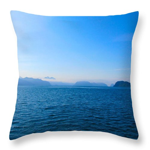Alaska Throw Pillow featuring the photograph Lucid Stillness by Michael Anthony
