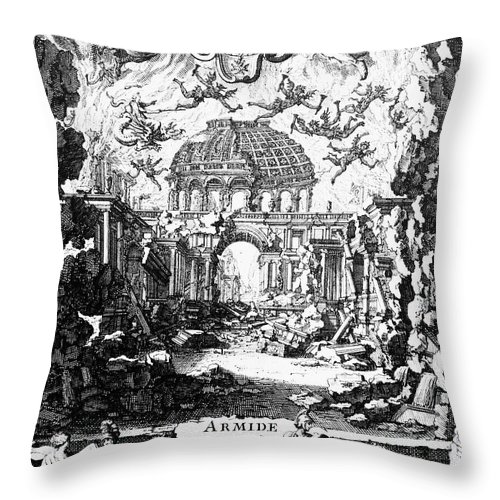 1686 Throw Pillow featuring the photograph Lully: Armide, 1686 by Granger