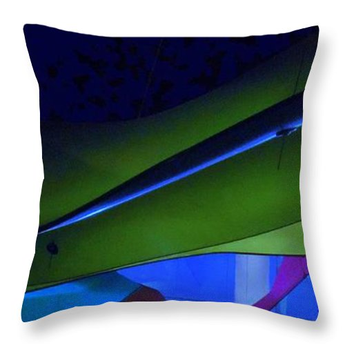 Abstract Art Throw Pillow featuring the digital art Luluminous 1 by Randall Weidner