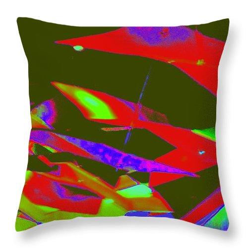 Abstract Art Throw Pillow featuring the digital art Luluminous 5 by Randall Weidner