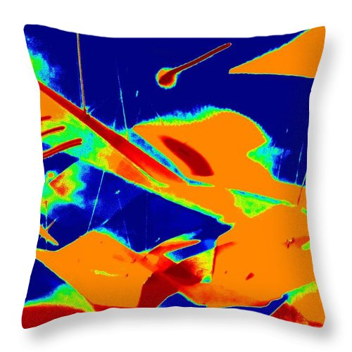 Abstract Art Throw Pillow featuring the photograph Luluminous 6 by Randall Weidner