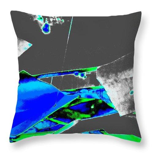 Abstract Art Throw Pillow featuring the digital art Luluminouse 4 by Randall Weidner