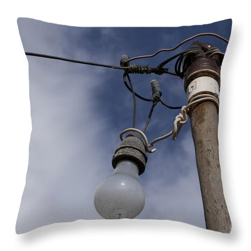 Aloha Throw Pillow featuring the photograph Lumieres by Sharon Mau