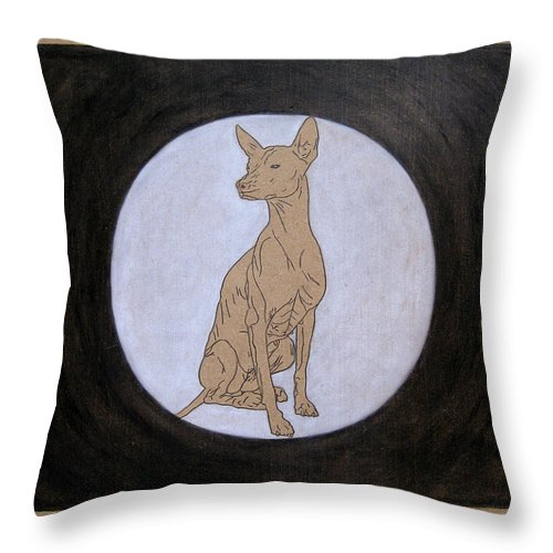 Luna Throw Pillow featuring the painting Luna by Lynet McDonald