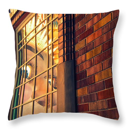 Sydney Throw Pillow featuring the photograph Luna Smile by Andre Distel