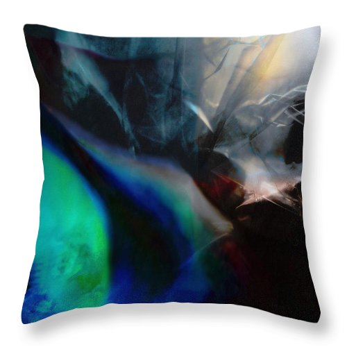 Digital Landscape Throw Pillow featuring the painting Lunar Radiation by Wolfgang Schweizer