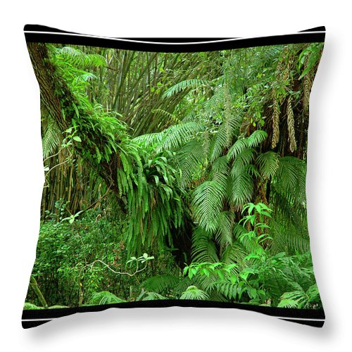 Green Landscape Throw Pillow featuring the photograph Lush Green Landscape by Carolyn Marshall