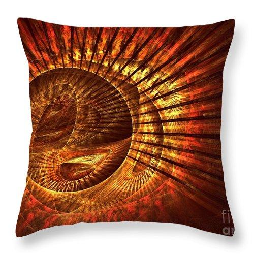 Apophysis Throw Pillow featuring the digital art Lyra by Kim Sy Ok