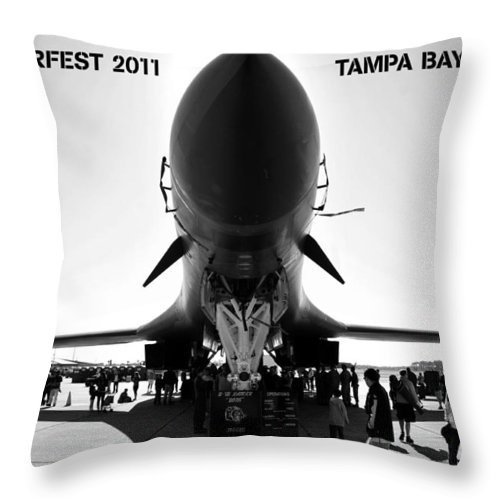 Fine Art Photography Throw Pillow featuring the photograph Macdill Airfest by David Lee Thompson