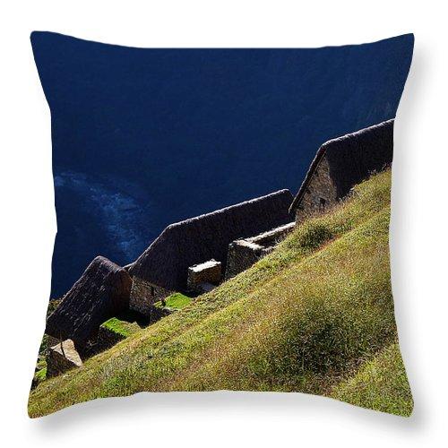 Peru Throw Pillow featuring the photograph Machu Picchu Peru 5 by Xueling Zou