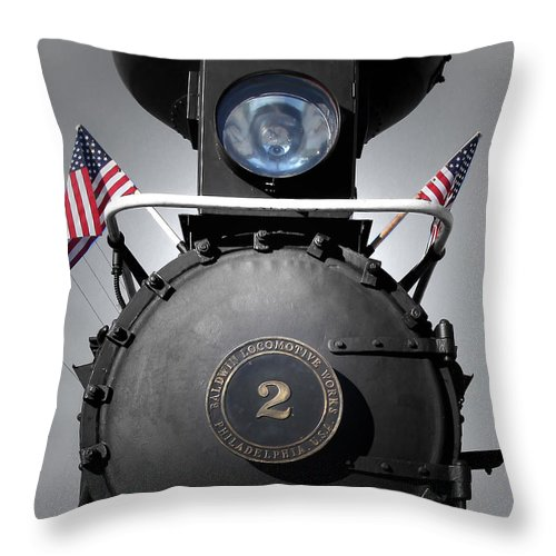 Orange Blossom Cannonball Throw Pillow featuring the photograph Made In The U S A by Joseph G Holland