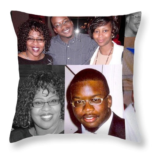 Throw Pillow featuring the photograph Madge's Grandson Josh by Angela L Walker
