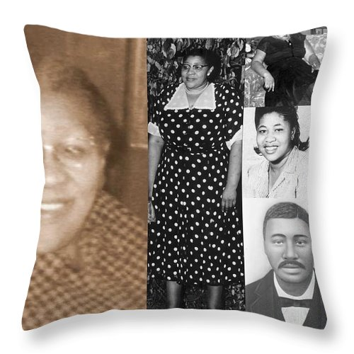 Throw Pillow featuring the photograph Madge's Mother And Grandfather by Angela L Walker