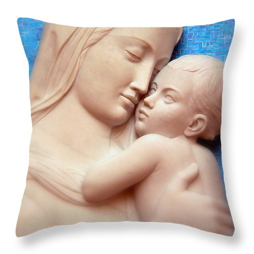 Madonna Throw Pillow featuring the photograph Madonna And Child by Jeff Lowe