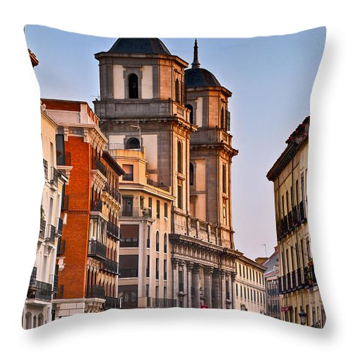Europe Throw Pillow featuring the photograph Madrid by John Greim