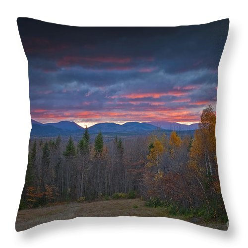 Maine Throw Pillow featuring the photograph Moosehead Sunset by Alana Ranney