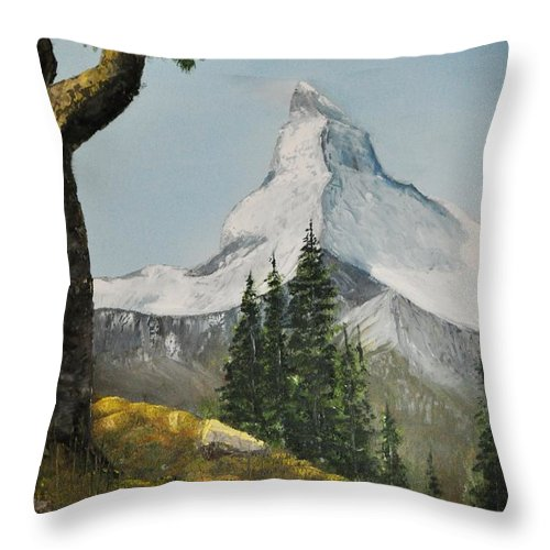 Mountain Throw Pillow featuring the photograph Majestic Mountain by John Black