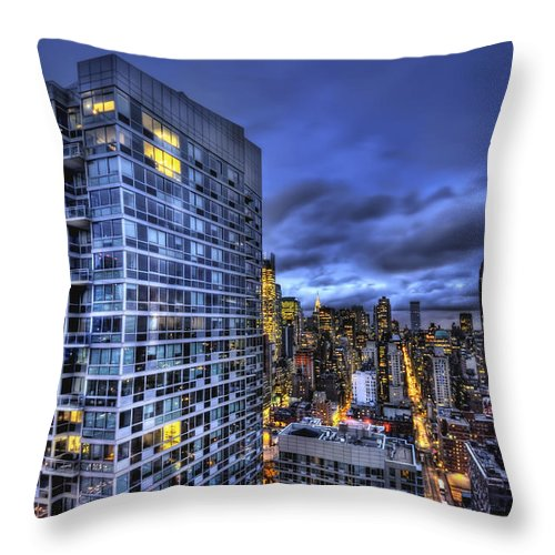 New York Throw Pillow featuring the photograph Major Highs And Manic Lows by Evelina Kremsdorf