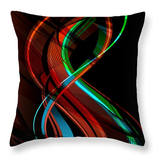 Make Throw Pillow featuring the digital art Making Music 1 by Angelina Vick