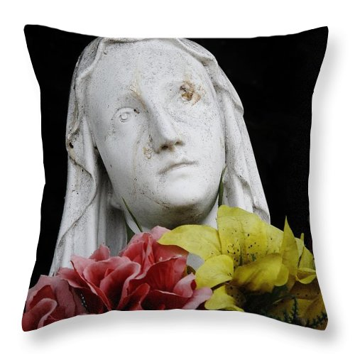 Mary Throw Pillow featuring the photograph Mama Mary by Michele Nelson