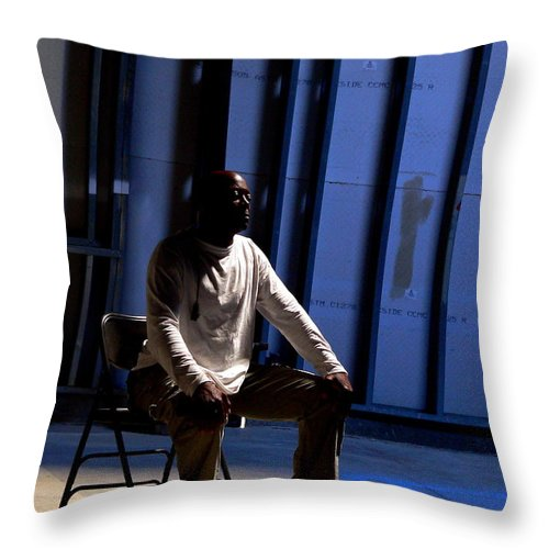 Prayer Throw Pillow featuring the photograph Man In Prayer by Jeff Lowe
