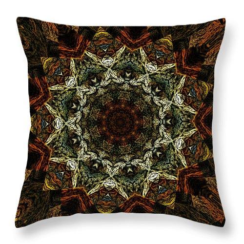 Mandala Throw Pillow featuring the digital art Mandala 111511 by David Lane