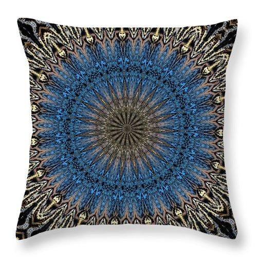 Mandala Throw Pillow featuring the digital art Mandala 111511d by David Lane