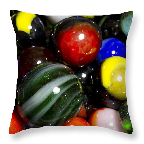 Photography Throw Pillow featuring the photograph Marble Collection 22 A by John Brueske