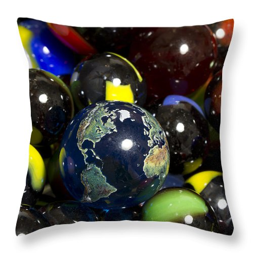 Photography Throw Pillow featuring the photograph Marble Collection 23 A by John Brueske