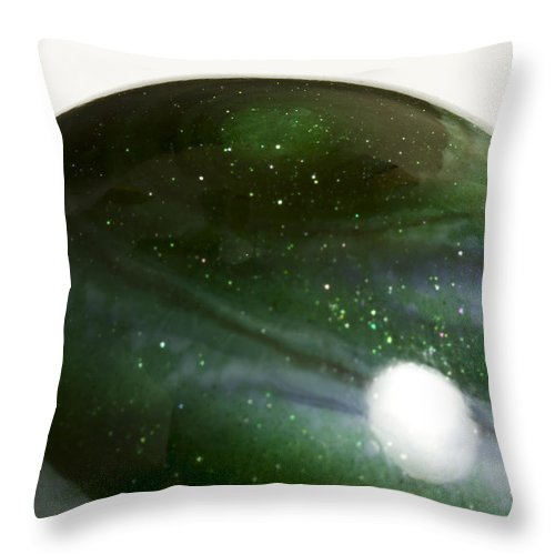 Photography Throw Pillow featuring the photograph Marble Green Onion Skin 3 by John Brueske
