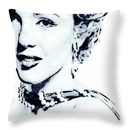 Actress Throw Pillow featuring the photograph Marilyn by Jeff Adkins