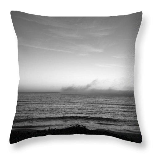 Marina Dunes Beach Throw Pillow featuring the photograph Marina - Afterlight by Kathleen Grace