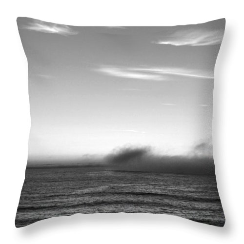 Marina Dunes Beach Throw Pillow featuring the photograph Marina - Last Minutes Light by Kathleen Grace