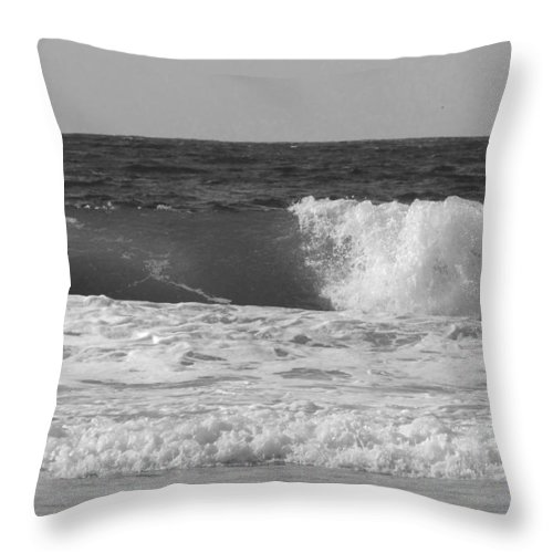 Marina Dunes Beach Throw Pillow featuring the photograph Marina Incoming by Kathleen Grace