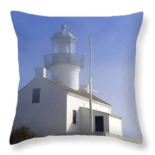 Bronstein Throw Pillow featuring the photograph Marine Fog At Pt. Loma by Sandra Bronstein