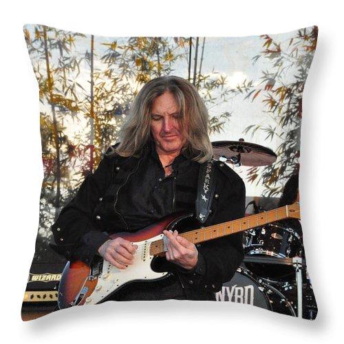 Matejka Throw Pillow featuring the photograph Mark Matejka - Lynyrd Skynyrd by John Black