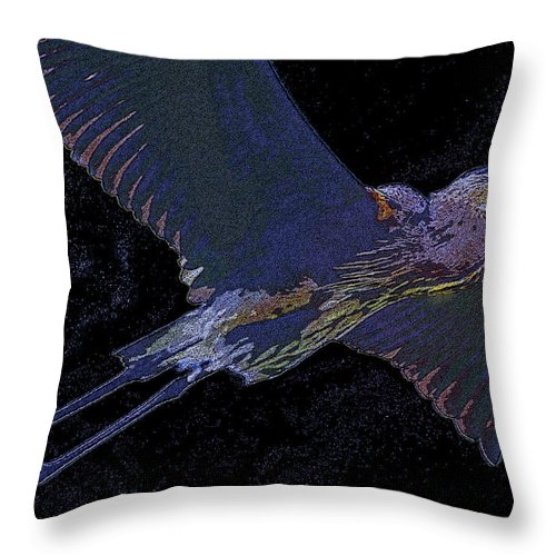 Art Throw Pillow featuring the painting Master Of The Glades by David Lee Thompson