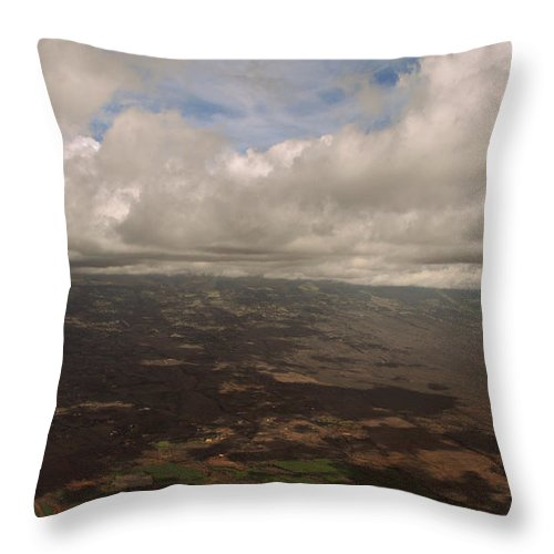 Nature Throw Pillow featuring the photograph Maui Beneath The Clouds by Paulette B Wright