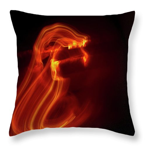 Abstract Throw Pillow featuring the photograph Maw by Gary Eason
