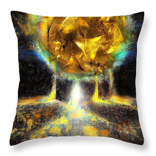Digital Throw Pillow featuring the digital art Maximum Liftoff by Michael Durst