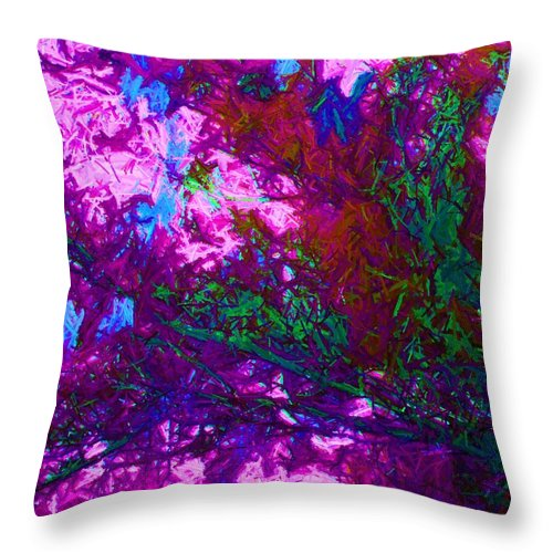 Abstract Throw Pillow featuring the photograph May Day by Susan Carella