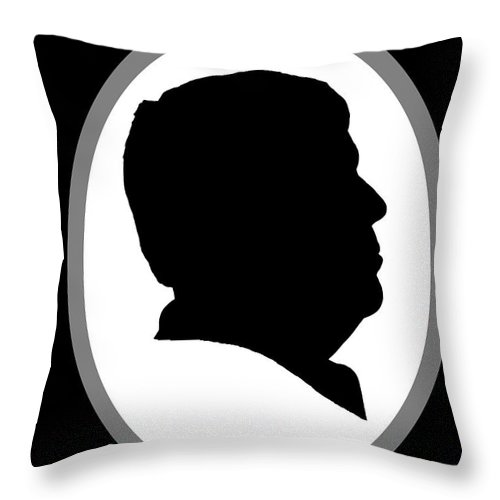 Silhouette Throw Pillow featuring the photograph Me by Edward Peterson