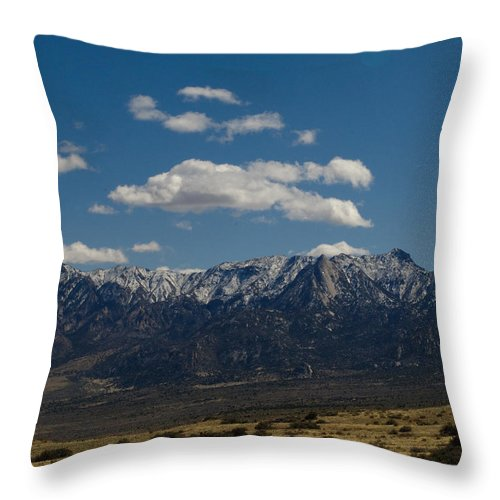 New Mexico Throw Pillow featuring the photograph Meadow And Mountains by Sean Wray